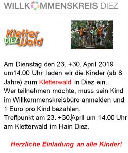 Kinder im Diezer Kletterwald